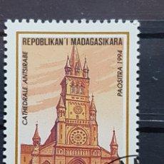 Sellos: MADAGASCAR_SELLO USADO_CATEDRAL ANTSIRABE_YT-MG 1347 AÑO 1994 LOTE 4411. Lote 193422552