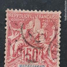 Sellos: MADAGASCAR, YVERT 38. Lote 194267383