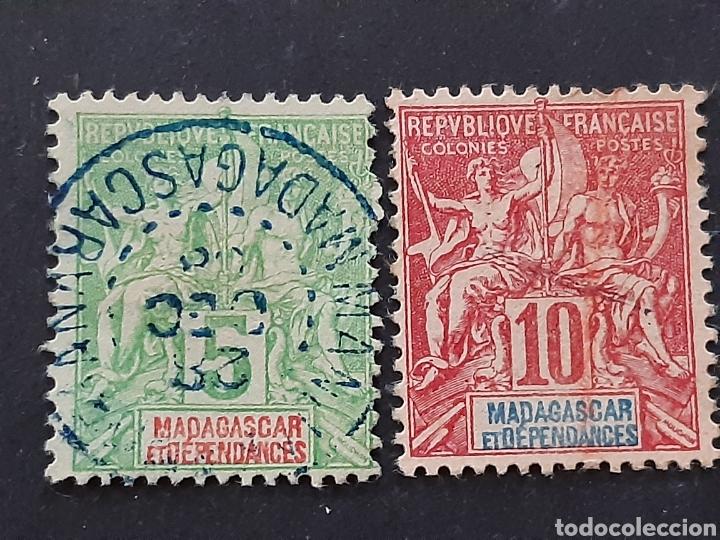 MADAGASCAR, YVERT 42A+43 (Sellos - Extranjero - África - Madagascar)