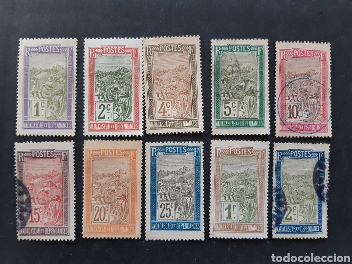 MADAGASCAR, YVERT 94-110, 10 VALORES SUELTOS (Sellos - Extranjero - África - Madagascar)