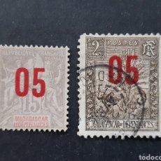 Sellos: MADAGASCAR, YVERT 111+115. Lote 194268190