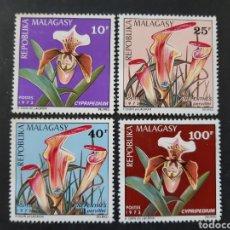 Sellos: MADAGASCAR, YVERT 531-34** FLORA. Lote 194269126
