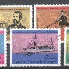 Sellos: MADAGASCAR 1976 TELEPHONE CENTENARY USED DE.030. Lote 198273571