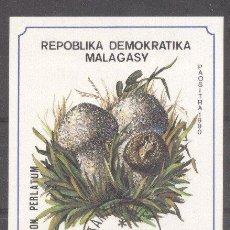 Sellos: MADAGASCAR 1990 MUSHROOMS, IMPERF. SHEET, USED M.048. Lote 198273581