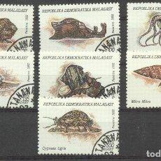 Sellos: MADAGASCAR 1993 MOLLUSCS, USED AH.049. Lote 198273621