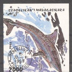 Sellos: MADAGASCAR 1993 FISHES, IMPERF. SHEET, USED M.215. Lote 198274063