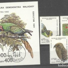 Sellos: MADAGASCAR 1993 PARROTS, USED M.083. Lote 198274073