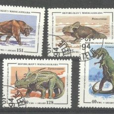 Sellos: MADAGASCAR 1994 PREHISTORIC ANIMALS, USED M.086. Lote 198274088