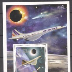 Sellos: MADAGASCAR 1999 AVIATION, CONCORDE, PERF. SHEET, MNH S.056. Lote 198274098