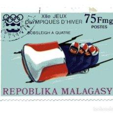 Sellos: SELLO MADAGASCAR (REPUBLIKA MALAGASY 75 FMG. JUEGOS OLÍMPICOS INVIERNO - INNSBRUCK, AUSTRIA 1975. Lote 204587656