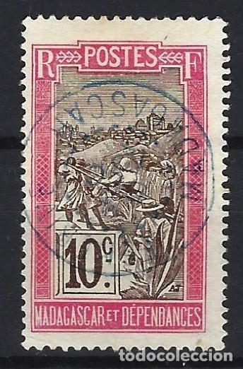 MADAGASCAR 1908 - PALANQUÍN - SELLO USADO (Sellos - Extranjero - África - Madagascar)