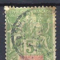 Sellos: MADAGASCAR 1896 - SELLOS DE FRANCIA SOBREIMPRESOS EN ROJO - SELLO USADO. Lote 208082926