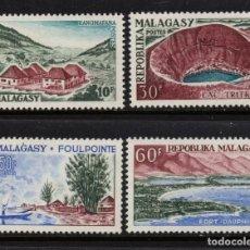 Sellos: MADAGASCAR 365/68** - AÑO 1962 - PAISAJES. Lote 210118506