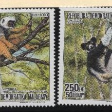 Sellos: MADAGASCAR SERIE MNH 1988 MICHEL 1110 A 1113 WWF. Lote 215531817