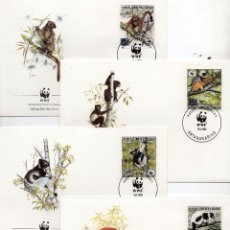 Sellos: MADAGASCAR SERIE SOBRES PRIMER DIA 1988 MICHEL 1110 A 1113 WWF. Lote 215534863