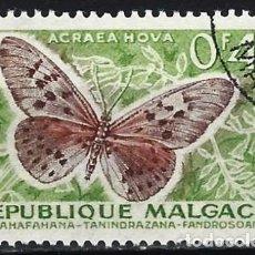 Sellos: MADAGASCAR 1960 - FAUNA, MARIPOSAS, ACRAEA HOVA - USADO. Lote 215749308