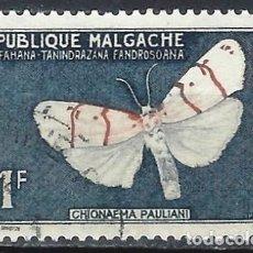 Timbres: MADAGASCAR 1960 - FAUNA, MARIPOSAS, CHLONAEMA PAULIANI - USADO. Lote 215749616