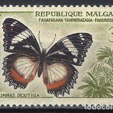Sellos: MADAGASCAR 1960 - FAUNA, MARIPOSAS, HYPOLIMNAS DEXITHEA - MNH**. Lote 215749787