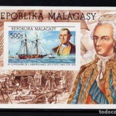 Sellos: MADAGASCAR HB 7** SIN DENTAR - AÑO 1975 - BICENTENARIO DE LA INDEPENDENCIA DE ESTADOS UNIDOS. Lote 217020287
