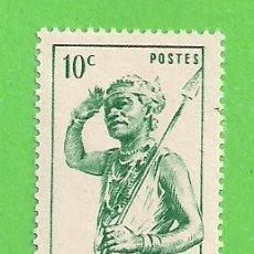 Sellos: MADAGASCAR - MICHEL 387 - YVERT 300 - NATIVO CON LANZA. (1946).** NUEVO SIN FIJASELLOS.. Lote 218828577