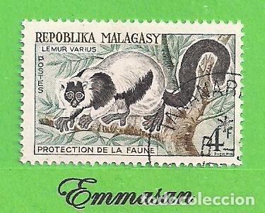 MADAGASCAR - MICHEL 468 - YVERT 358 - PROTECCIÓN DE LA VIDA SALVAJE, LEMUR. (1961). NUEVO MATASELLAD (Sellos - Extranjero - África - Madagascar)