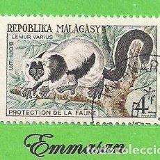 Sellos: MADAGASCAR - MICHEL 468 - YVERT 358 - PROTECCIÓN DE LA VIDA SALVAJE, LEMUR. (1961). NUEVO MATASELLAD. Lote 218831703