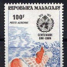 Sellos: MADAGASCAR 1973 - METEOROLOGIA - YVERT Nº 129** AEREO. Lote 220983783