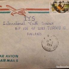 Sellos: O) 1981 MALAGASY, PRIMATE - LEMUR MACACO, CORREO AÉREO A FINLANDIA. Lote 234415450