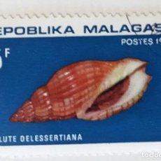 Sellos: SELLO DE MADAGASCAR - 5 F - 1970 - CARACOLES MARINOS - USADO SIN SEÑAL DE FIJASELLOS. Lote 235250780