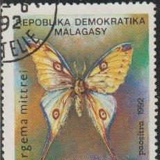 Sellos: MADAGASCAR 1992 SCOTT 1081 SELLO * FAUNA MARIPOSAS BUTTERFLIES COMET MOTH (ARGEMA MITTREI) MI. 1368. Lote 235907950