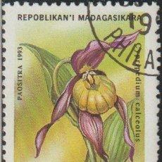 Sellos: MADAGASCAR 1993 SCOTT 1273 SELLO * FLORA ORQUIDEAS CYPRIPEDIUM CALCEOLUS MICHEL 1571 YVERT 1323B. Lote 235909600