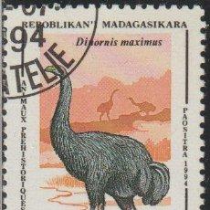 Sellos: MADAGASCAR 1994 SCOTT 1174 SELLO * ANIMALES PREHISTORICOS DINORNIS MAXIMUS MICHEL 1675 YVERT 1338. Lote 235911235