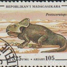 Sellos: MADAGASCAR 1994 SCOTT 1177 SELLO * ANIMALES PREHISTORICOS PROTOCERATOPS MICHEL 1678 YVERT 1341. Lote 235911930