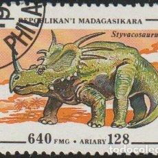 Sellos: MADAGASCAR 1994 SCOTT 1178 SELLO * ANIMALES PREHISTORICOS STYVACOSAURUS MICHEL 1679 YVERT 1342. Lote 235912410