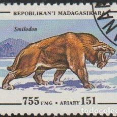 Sellos: MADAGASCAR 1994 SCOTT 1179 SELLO * ANIMALES PREHISTORICOS SMILODON MICHEL 1680 YVERT 1343 MALAGASY. Lote 235915815