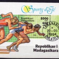 Sellos: MADAGASCAR, 1994, SOUVENIR-SHEET , MICHEL BL262 FDC. Lote 236090520