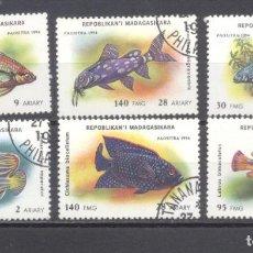 Sellos: MADAGASCAR, 1994 PREOBLITERADOS. PECES. Lote 237567450