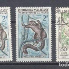 Sellos: MADAGASCAR, 1961 - PREOBLITERADO- FAUNA. Lote 237576880
