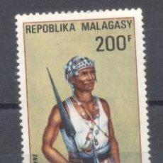 Sellos: MADAGASCAR, - AEREO, NUEVO CON GOMA, RESTO DE CHARNELA. Lote 237581590