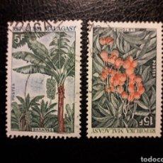 Francobolli: MADAGASCAR YVERT 465 SERIE COMPLETA USADA 1969. FLORA. FRUTOS. PEDIDO MÍNIMO 3 €. Lote 244406145