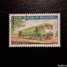 Francobolli: MADAGASCAR YVERT 503 SERIE COMPLETA USADA 1972. TRENES. PEDIDO MÍNIMO 3 €. Lote 244407000