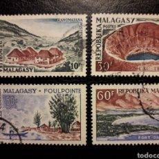 Sellos: MADAGASCAR YVERT 365/8 SERIE COMPLETA USADA 1962 PAISAJES. PEDIDO MÍNIMO 3 €. Lote 244458055