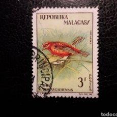 Sellos: MADAGASCAR YVERT 382 SELLO SUELTO USADO 1963. FAUNA. AVES. PEDIDO MÍNIMO 3 €. Lote 244458350