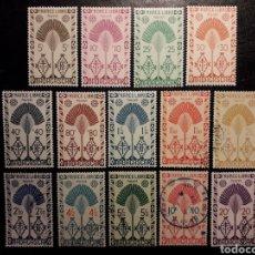 Sellos: MADAGASCAR YVERT 265/78 SERIE COMPLETA USADA Y NUEVA *** 1943. FRANCIA LIBRE. PEDIDO MÍNIMO 3 €. Lote 244458395