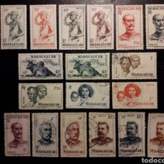 Sellos: MADAGASCAR YVERT 300/18 SIN EL 311 SERIE CORTA USADA, NUEVA CON Y SIN CHARNELA 1946 PEDIDO MÍNIMO 3€. Lote 244458540