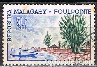 MADAGASCAR IVERT Nº 367, TURISMO: PLAYA DE FOULPOINTE, USADO (Sellos - Extranjero - África - Madagascar)