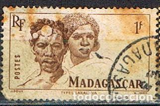 MADAGASCAR (COLONIA FRANCESA) IVERT Nº 306 (1946), TIPOS MALGACHES, USADO (Sellos - Extranjero - África - Madagascar)