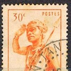 Sellos: MADAGASCAR (COLONIA FRANCESA) IVERT Nº 301 (1945), BAILARIN DEL SUR, USADO. Lote 250212765