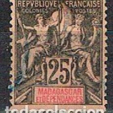 Sellos: MADAGASCAR (COLONIA FRANCESA) IVERT Nº 35 (1896), SELO DE FRANCIA SOBRECARGADO, SIN MATASELLAR. Lote 250217695
