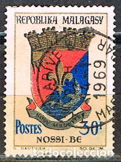 MADAGASCAR IVERT Nº 439, ESCUDO DE DIEGO SUAREZ, USADO (Sellos - Extranjero - África - Madagascar)